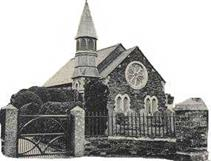 Coad's Green Church before the spire was removed.